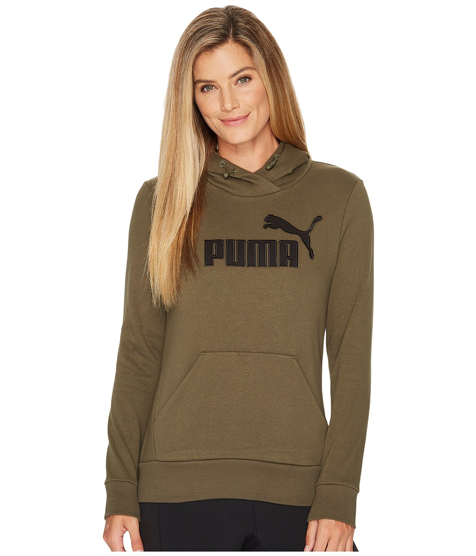 PUMA - Elevated Logo Hoodie (Olive Night) Women's Sweatshirt