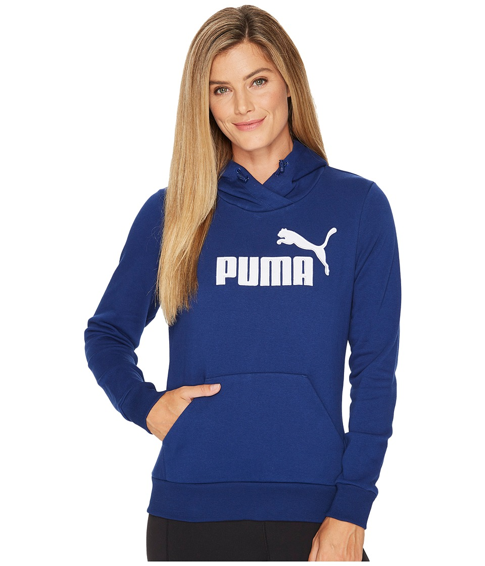 PUMA - Elevated Logo Hoodie (Blue Depths) Women's Sweatshirt