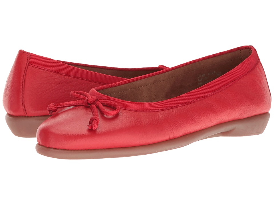 Aerosoles - Fast Bet (Red Leather) Women's Flat Shoes