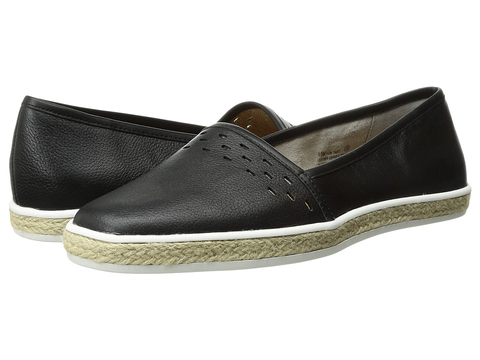 Aerosoles - Fun Times (Black Leather) Women's Slip on Shoes