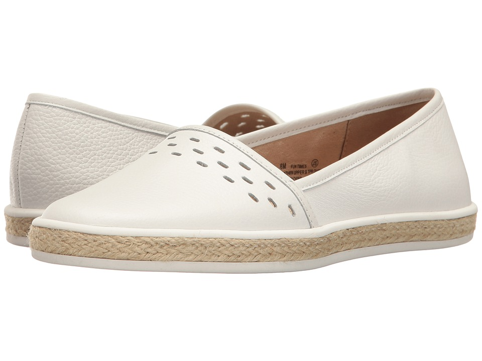 Aerosoles - Fun Times (White Leather) Women's Slip on Shoes