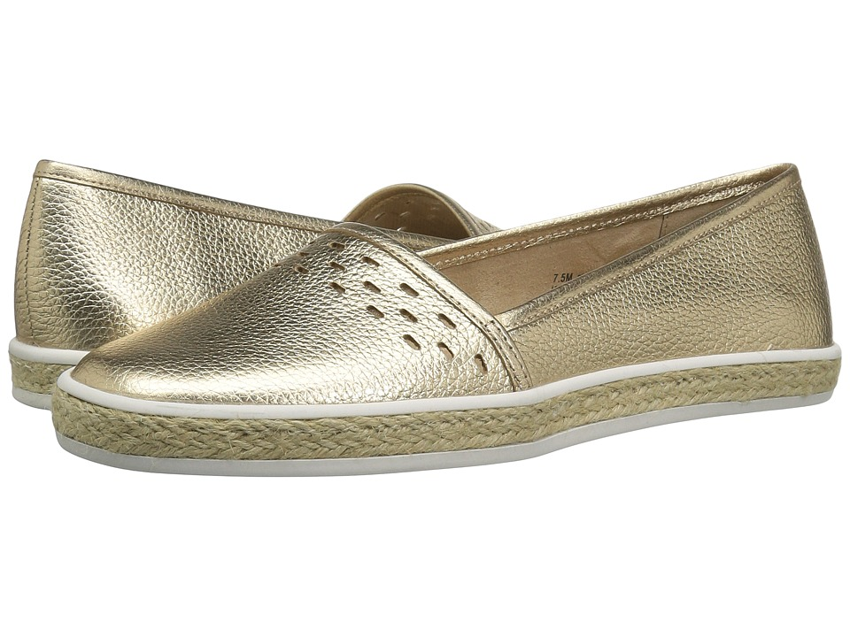 Aerosoles - Fun Times (Soft Gold Leather) Women's Slip on Shoes
