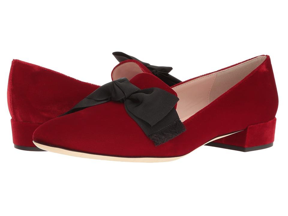 Kate Spade New York - Gino (Ruby Red Velvet) Women's Slip on Shoes