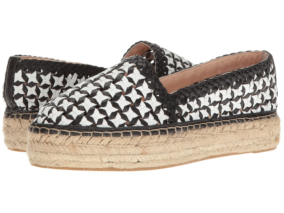 Kate Spade New York Leela Black-White Woven Nappa Shoes