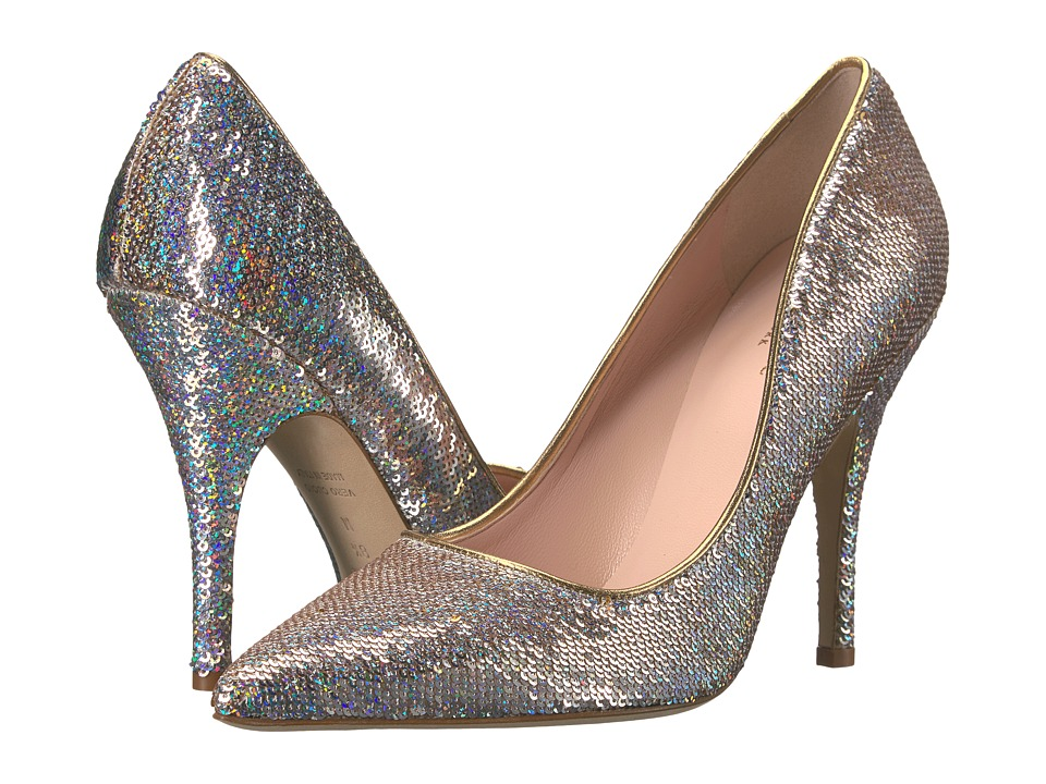 Kate Spade New York - Licorice Too (Natural Iridescent Messy Sequins) Women's Slip-on Dress Shoes