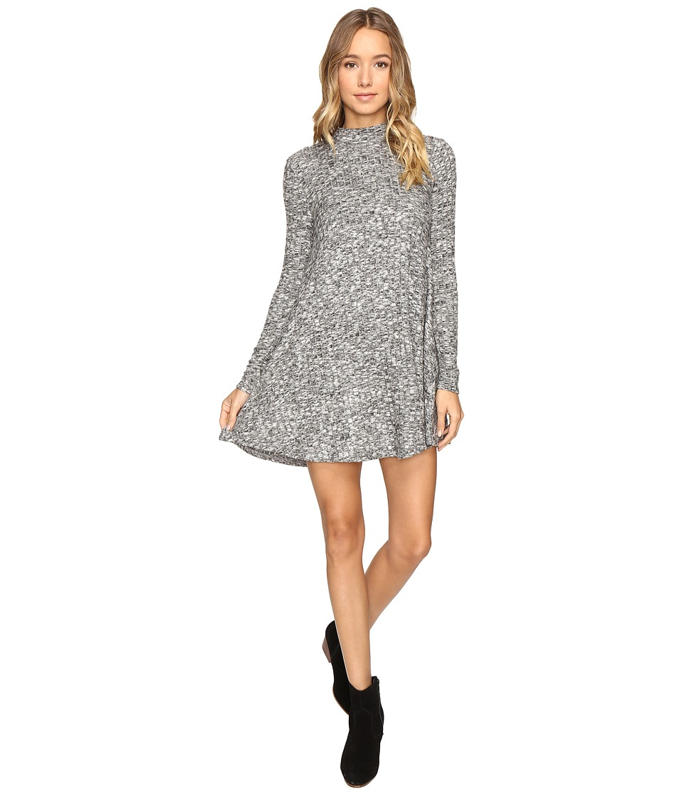 Culture Phit Breyah Mock Neck Dress (Heather Grey) Women