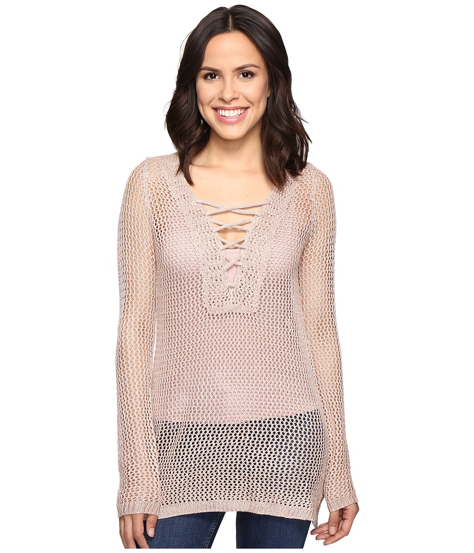 Brigitte Bailey - Ciel Knit Tie-Front Sweater (Blush) Women's Sweater