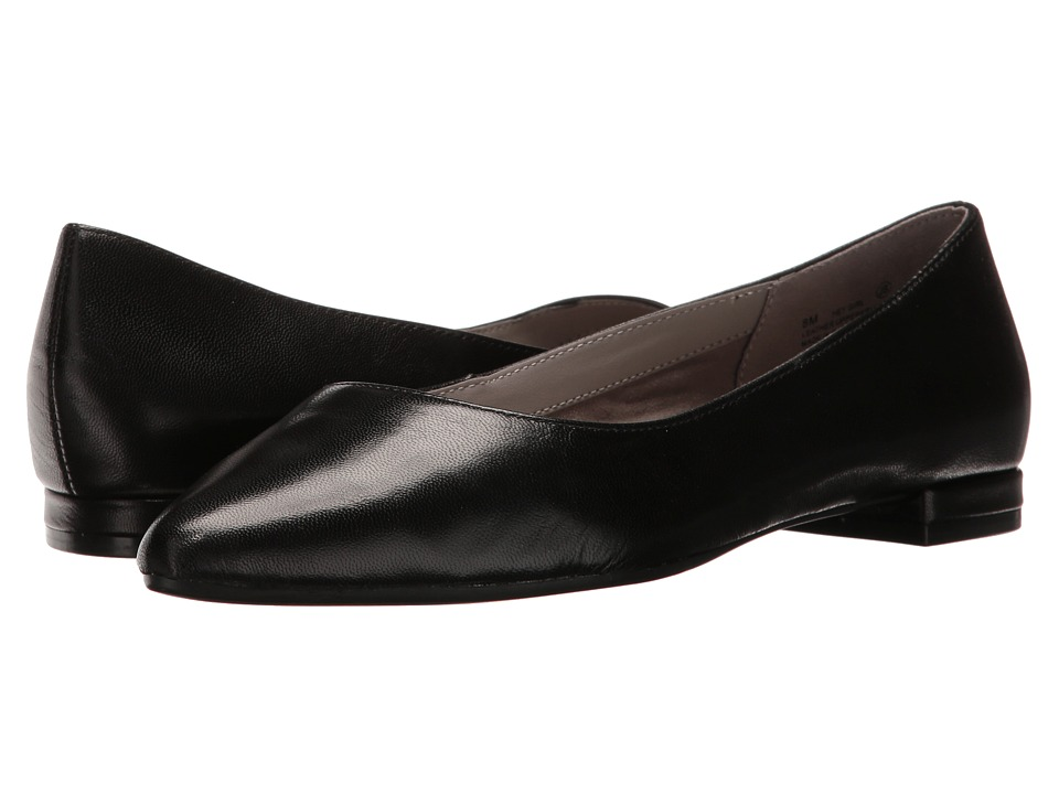 Aerosoles - Hey Girl (Black Leather) Women's Flat Shoes