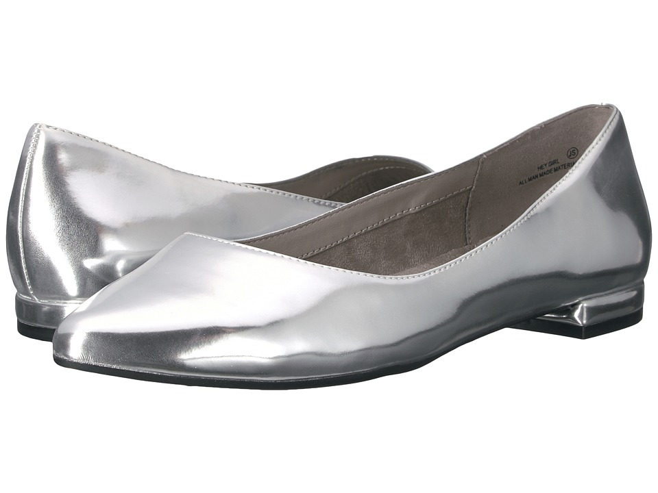 Aerosoles - Hey Girl (Silver Metallic) Women's Flat Shoes