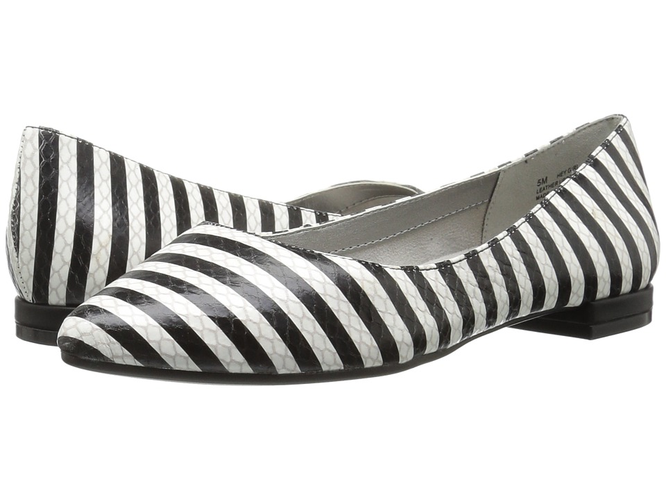 Aerosoles - Hey Girl (Black/White Snake) Women's Flat Shoes