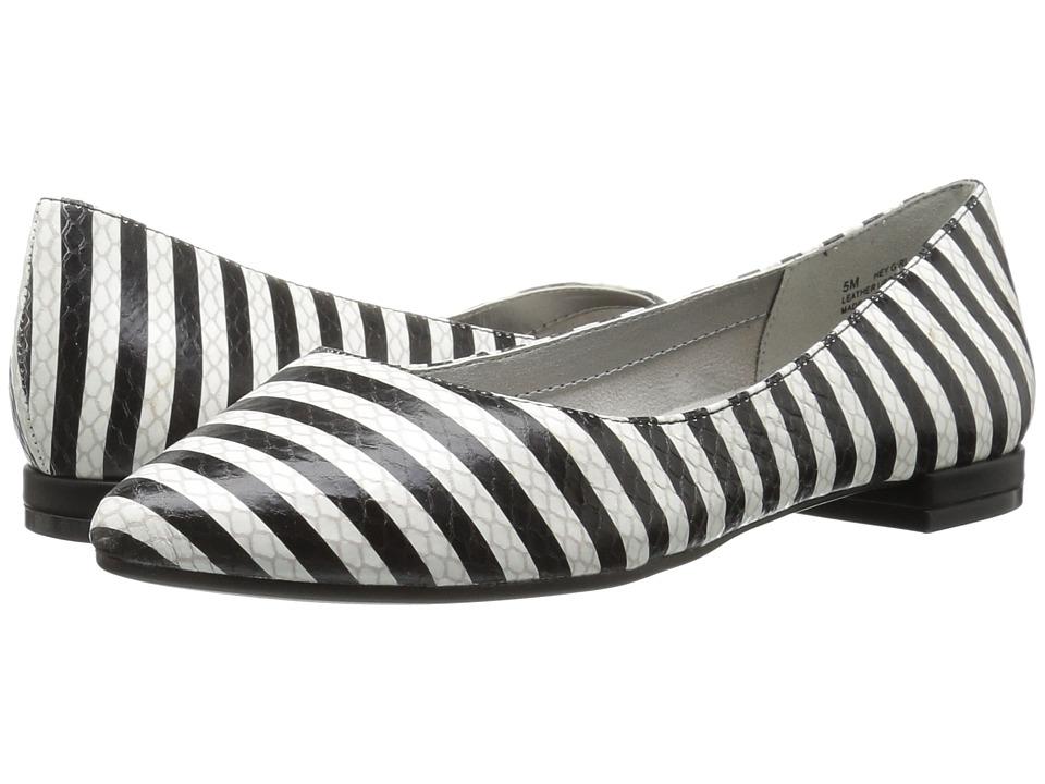 Aerosoles - Hey Girl (Black/White Snake) Women's Flat Shoes