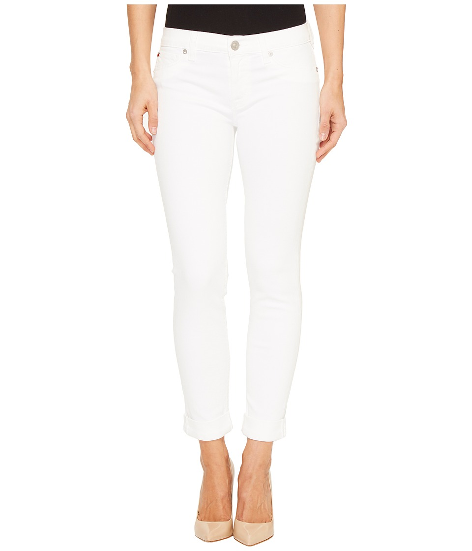 Hudson - Tally Cropped Skinny Five-Pocket Jeans in White (White) Women's Jeans
