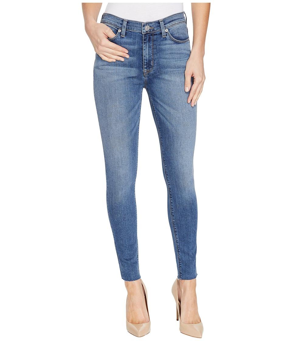 Hudson Barbara High Waist Ankle Raw Hem Super Skinny Five-Pocket Jeans in Traverse (Traverse) Women