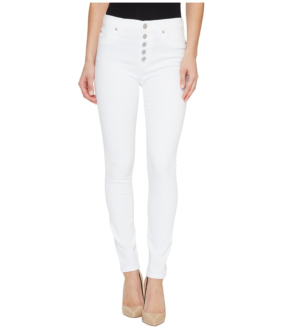 Hudson - Ciara High-Rise Ankle Super Skinny Buttonfly Five-Pocket Jeans in White (White) Women's Jeans