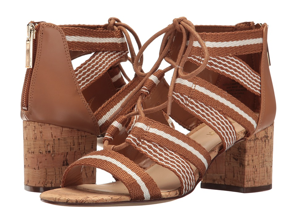 Nine West - Gahn (Dark Caramel/White/Dark Caramel/White/Dark Caramel) Women's Shoes