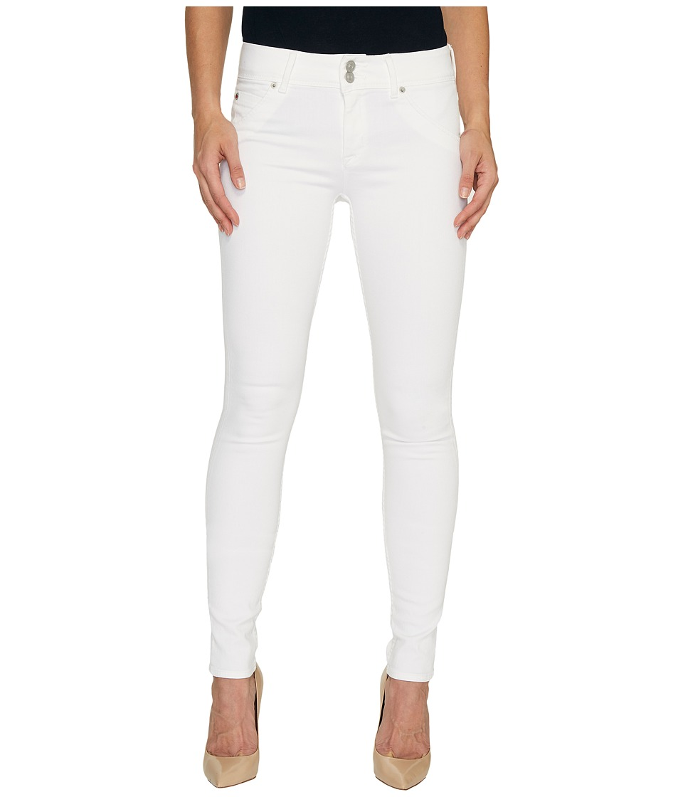 Hudson - Collin Mid-Rise Skinny Flap Pocket Jeans in White (White) Women's Jeans