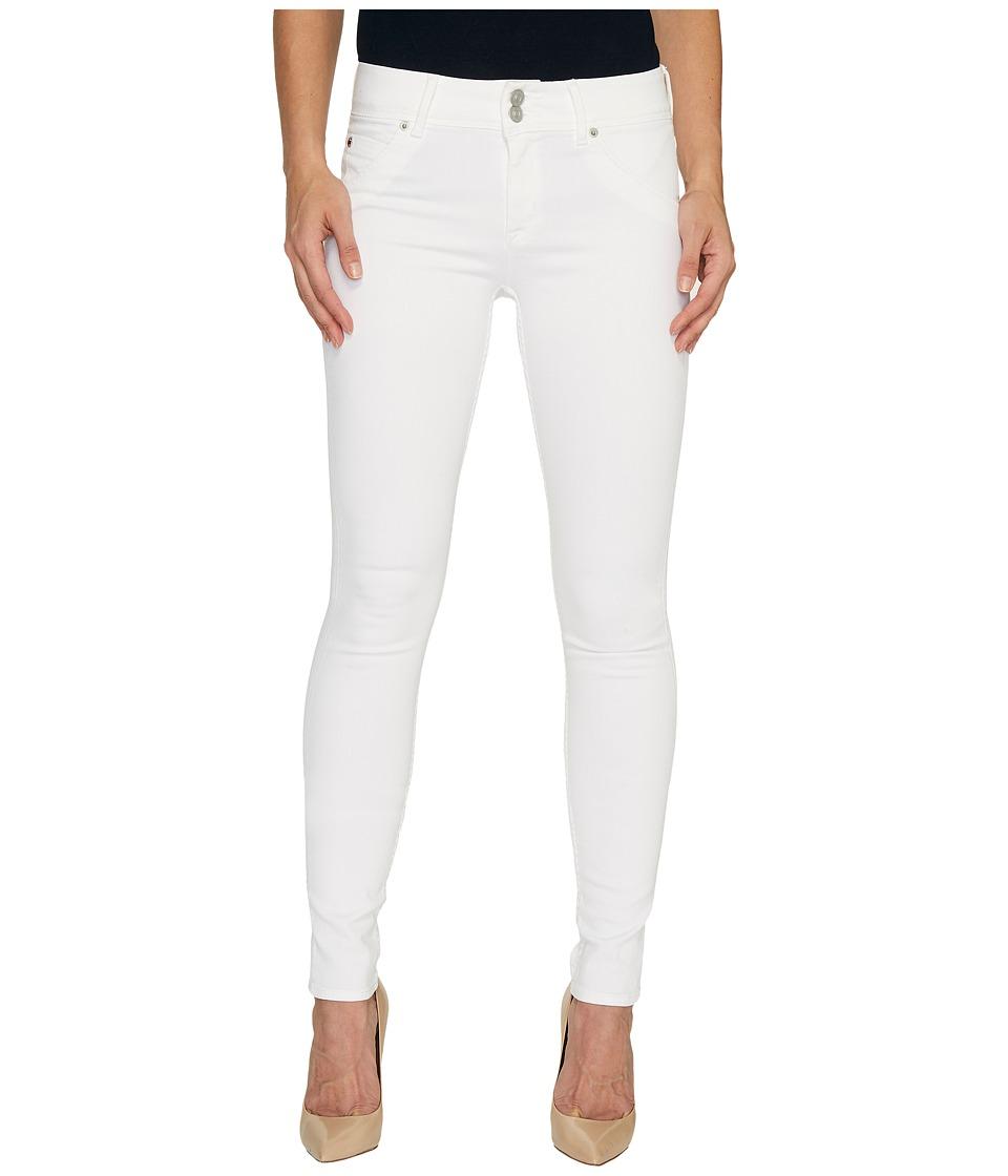 Hudson - Collin Mid-Rise Skinny Flap Pocket Jeans in White (White) Women's Jeans