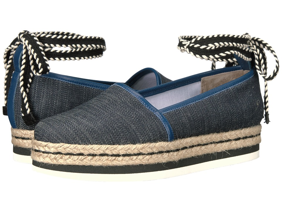 Furla - Vittoria Espadrillas T.10 (Blue Denim Tessuto Denim) Women's Slip on Shoes