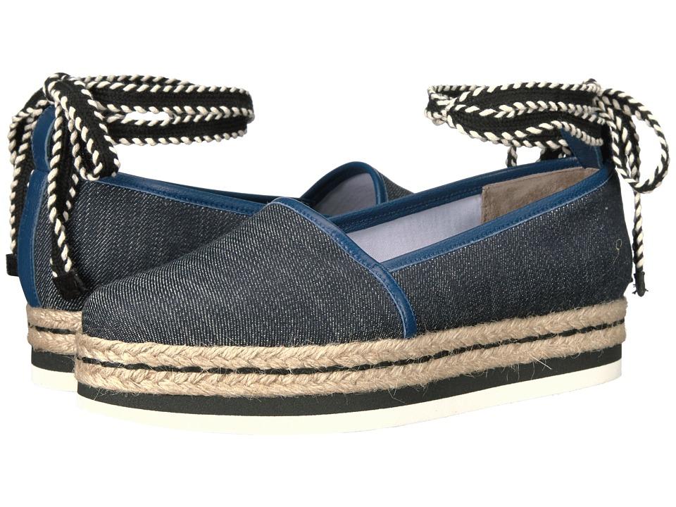 Furla - Vittoria Espadrillas T.10 (Blue Denim Tessuto Denim) Women's Slip on Shoes