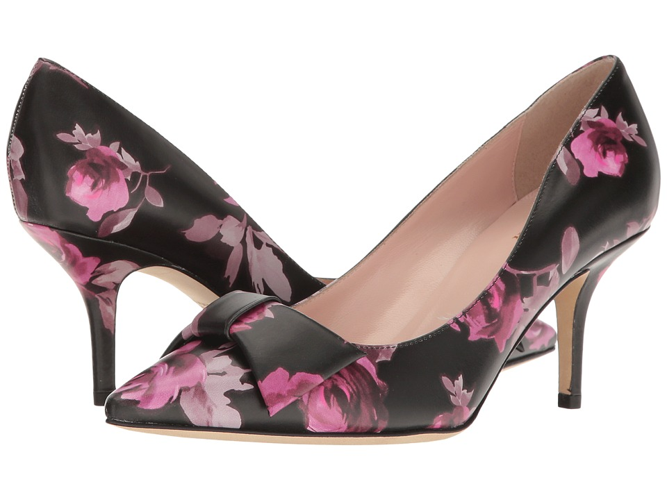 Kate Spade New York - Juliette (Black Rose Symphony Printed Nappa) High Heels