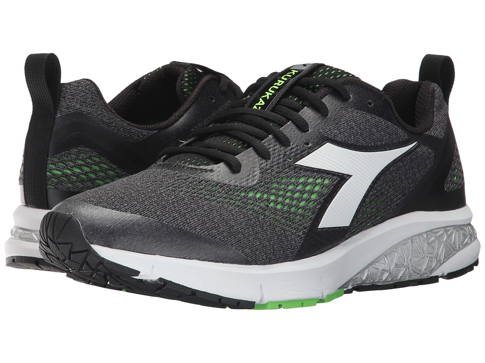 Diadora - Kuruka 2 (Jet Black/Green Fluo) Men's Shoes