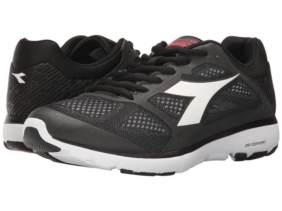 Diadora X Run (Black/White Pristine) Men