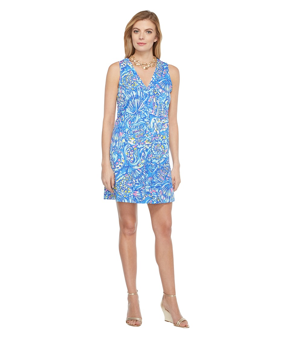 Lilly Pulitzer - Amina Dress (Brilliant Blue Ceviche Reduced) Women's Dress