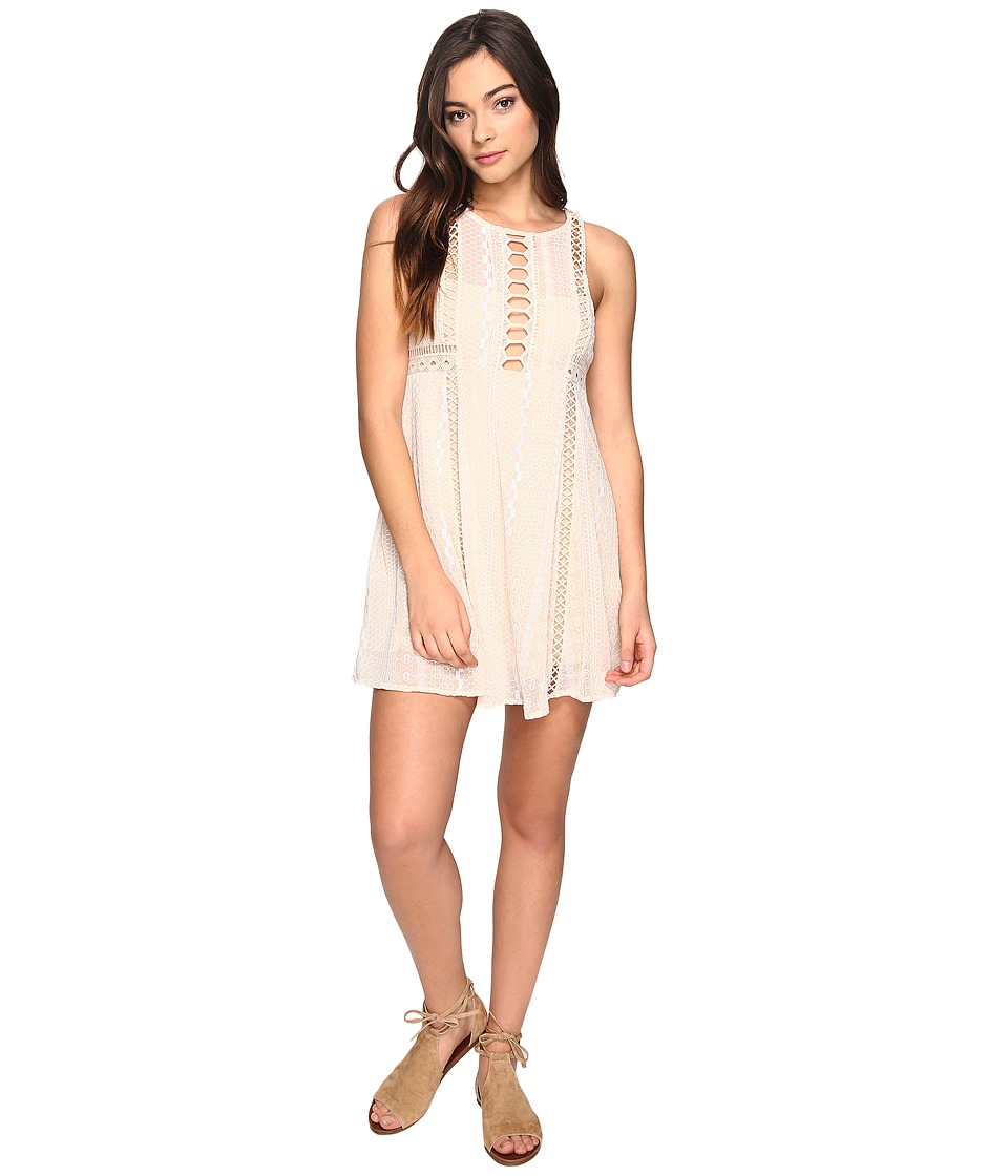 Free People - Wherever You Go Mini Dress (Ivory) Women's Dress