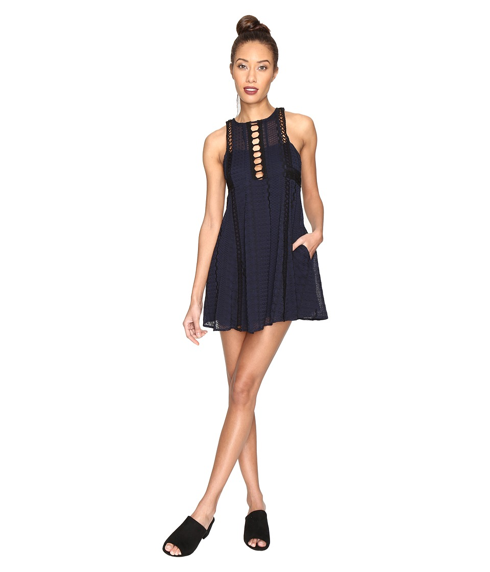 Free People - Wherever You Go Mini Dress (Navy) Women's Dress