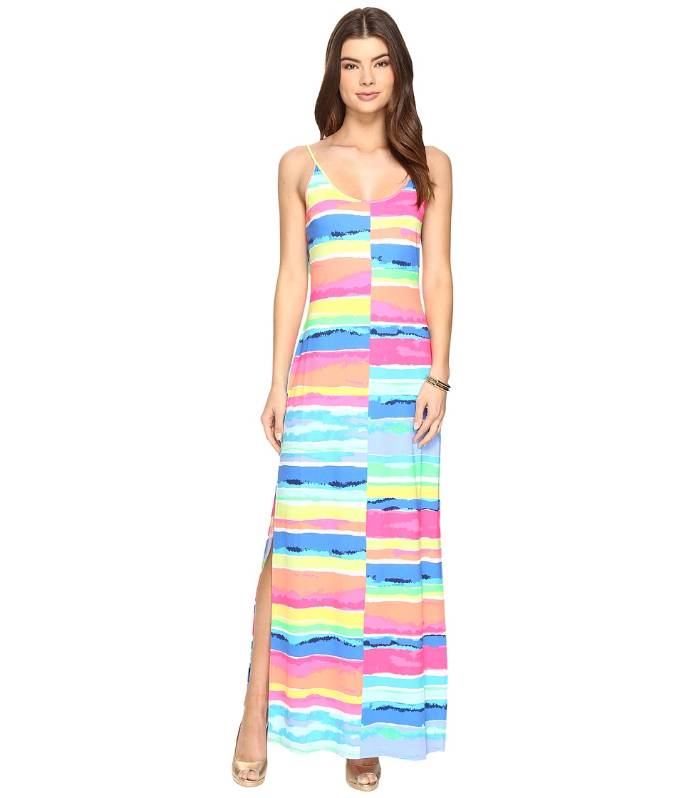 Lilly Pulitzer - Gigi Maxi Beach Dress (Multi Blurred Stripes Split) Women's Dress