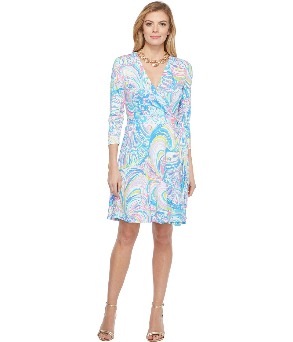 Lilly Pulitzer - Emilia Wrap Dress (Multi Gillty Pleasure) Women's Dress