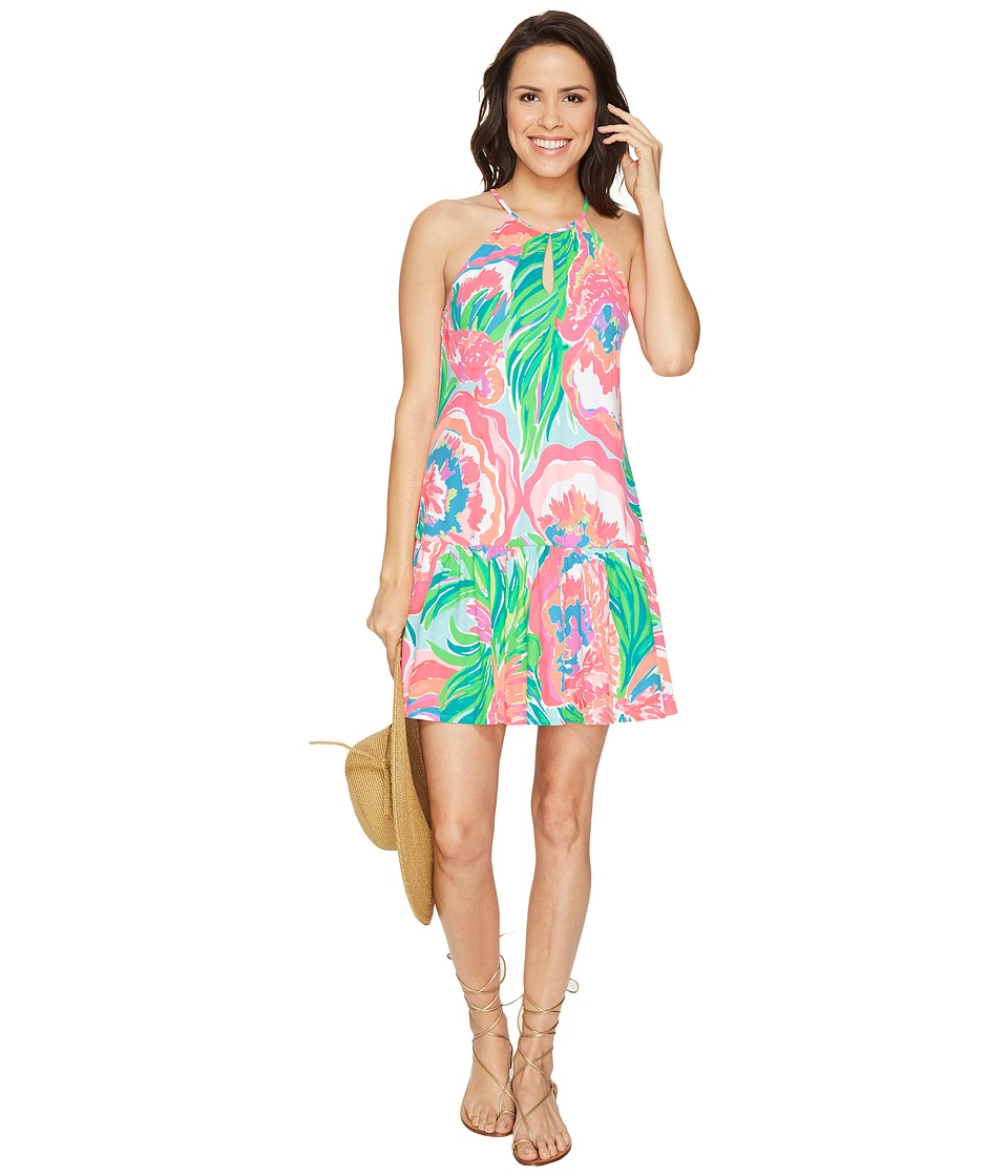 Lilly Pulitzer - Isabeau Dress (Serene Blue Paradise Bound) Women's Dress