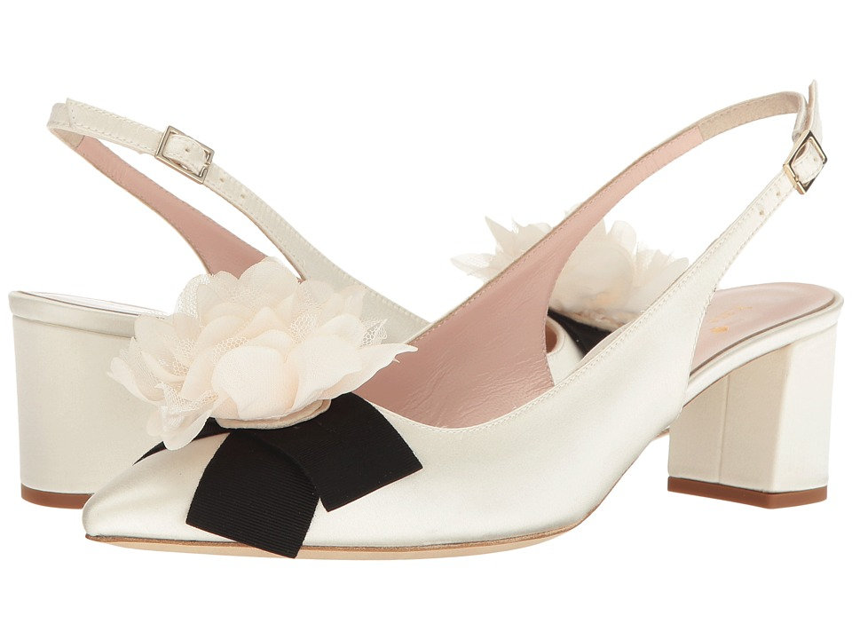 Kate Spade New York - Mettie (Ivory Satin) Women's Shoes