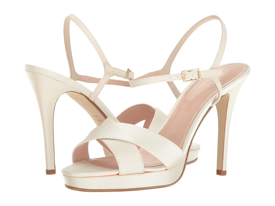 Kate Spade New York Rosemarie Ivory Grosgrain-Ivory Satin Shoes