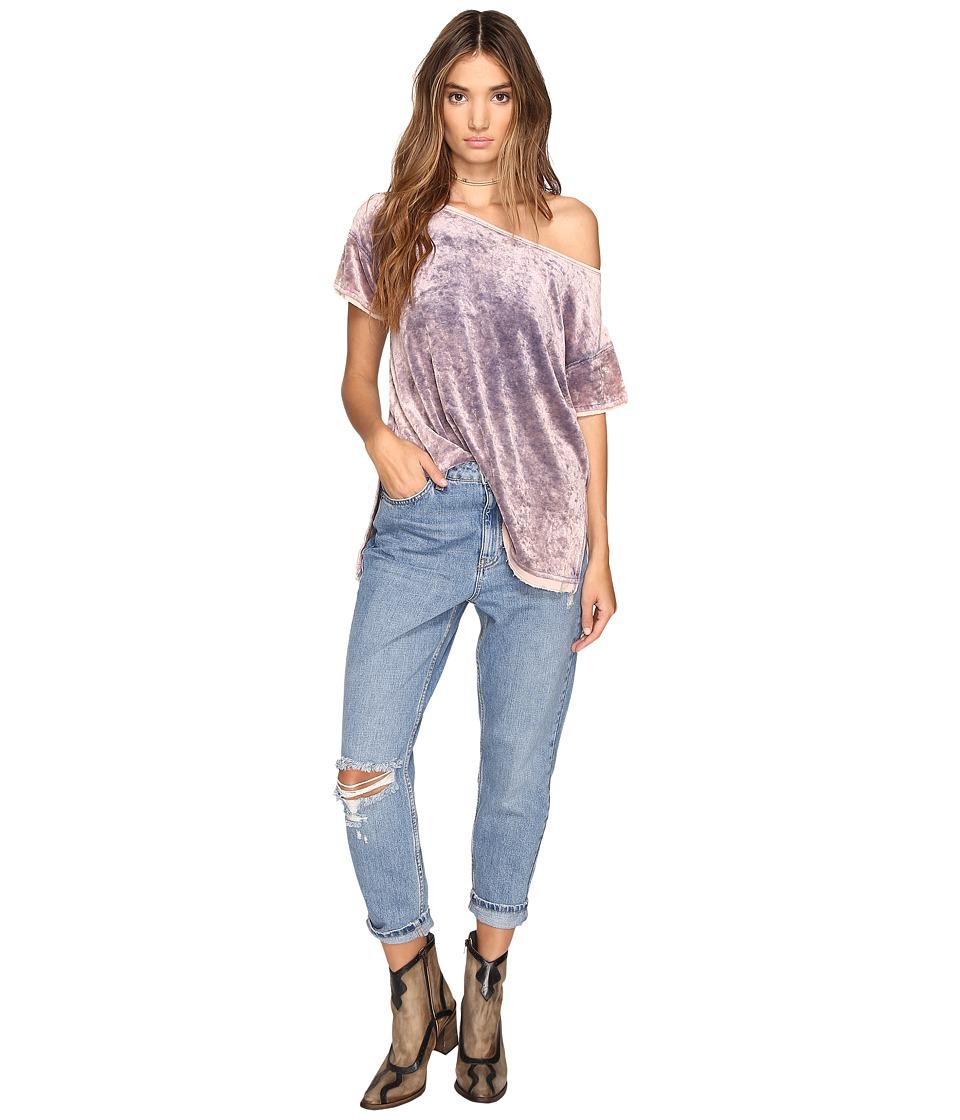 Free People - Doran Washed Tee (Purple) Women's T Shirt