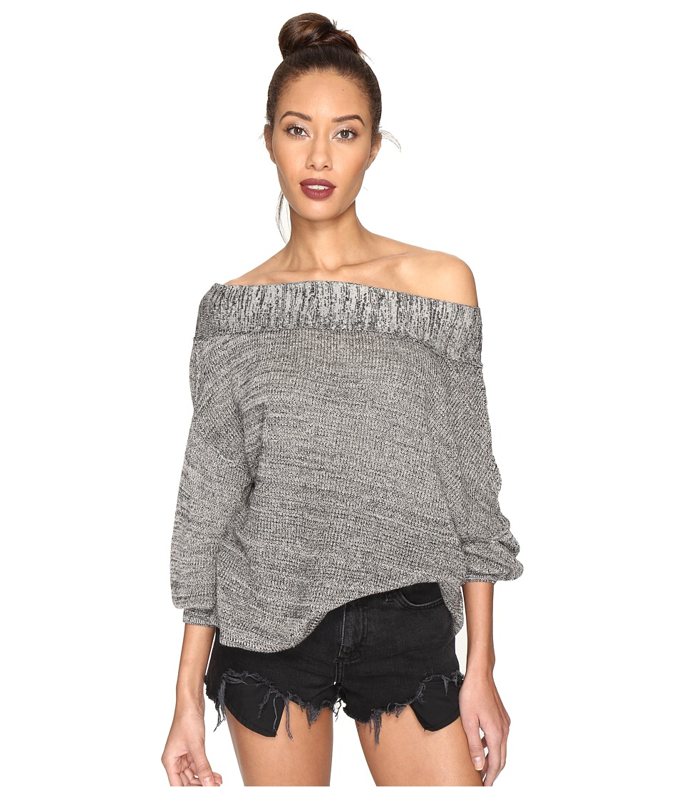 Free People - Alana Pullover (Grey) Women's Long Sleeve Pullover