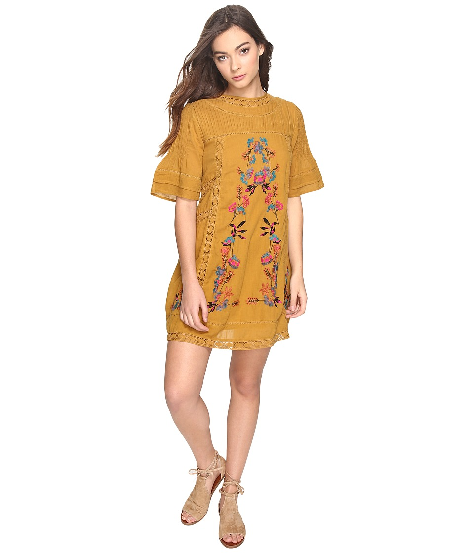 Free People - Victorian Mini Dress (Yellow) Women's Dress