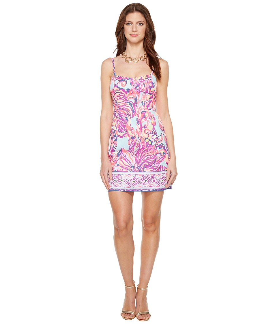 Lilly Pulitzer - Shelli Dress (Serene Blue Big Escapade Engineered) Women's Dress