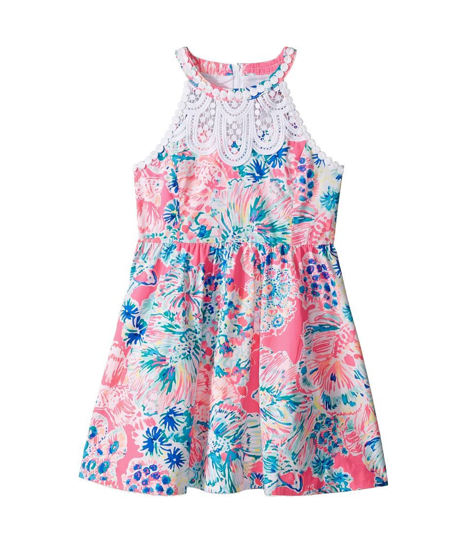 Lilly Pulitzer Kids - Kinley Dress (Toddler/Little Kids/Big Kids) (Tiki Pink Gypsea Pink) Girl's Dress