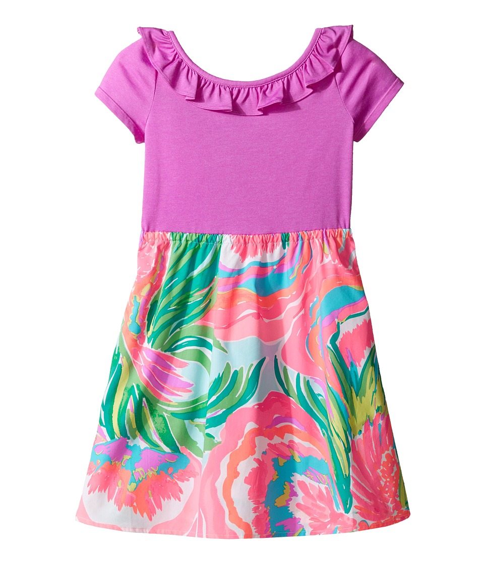 Lilly Pulitzer Kids - Brit Dress (Toddler/Little Kids/Big Kids) (Serene Blue Paradise Bound) Girl's Dress