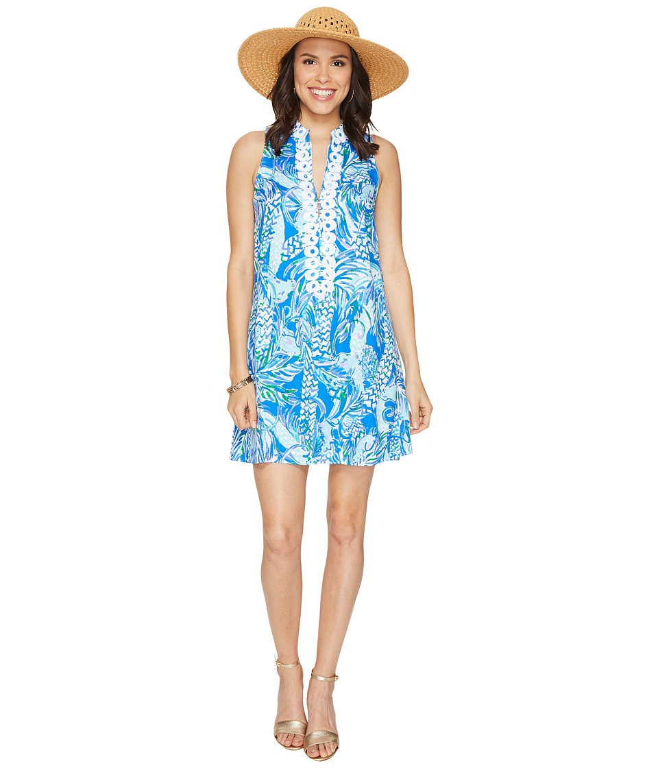 Lilly Pulitzer Jane Shift Resort White Canopy Chaos Dress
