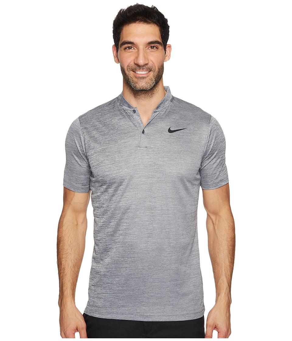 Nike Golf - Dry Polo Heather Blade (Wolf Grey/Dark Grey/Black) Men's Short Sleeve Pullover