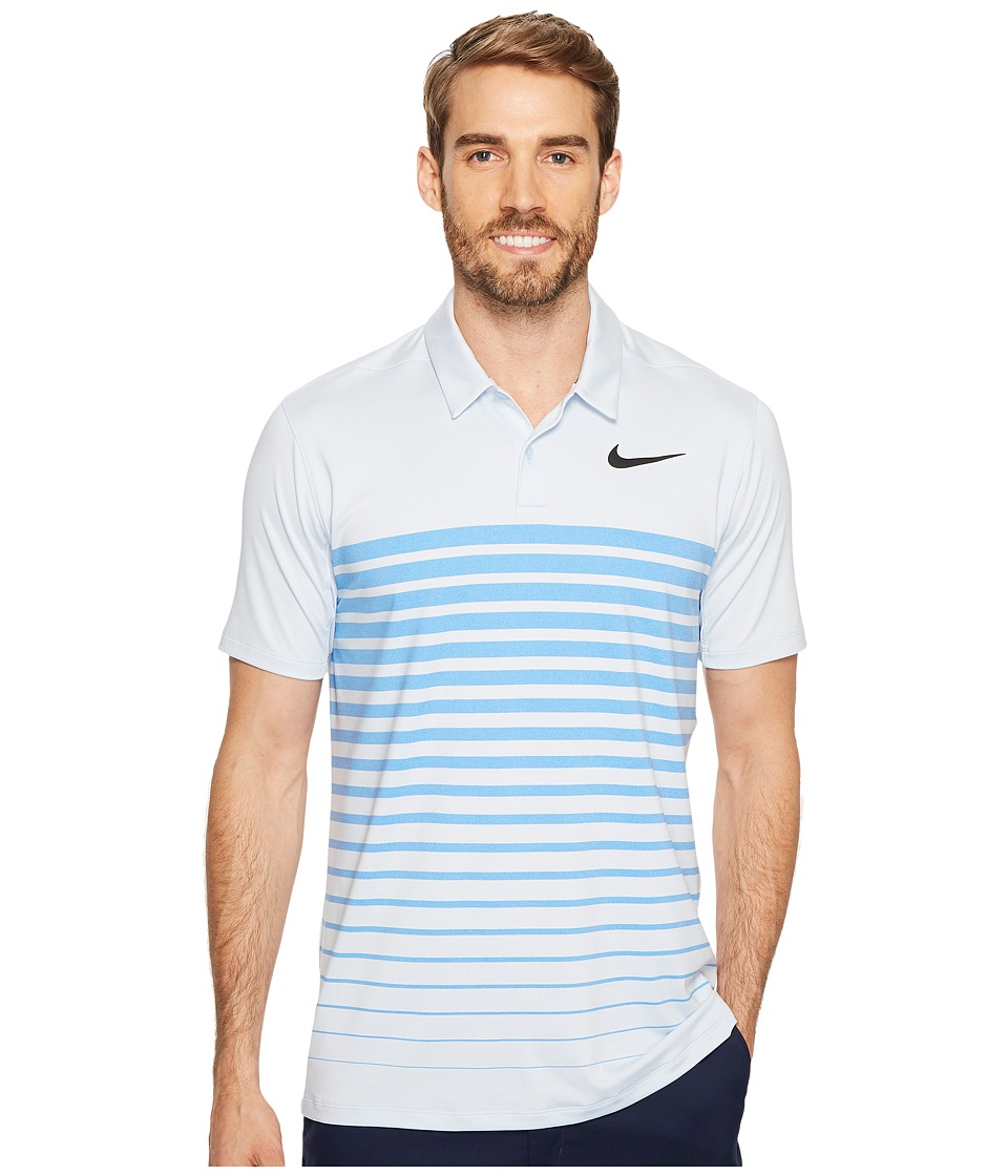 Nike Golf - Mobility Print 7/1 (Hydrogen Blue/Blue Jay/Black) Men's Short Sleeve Pullover