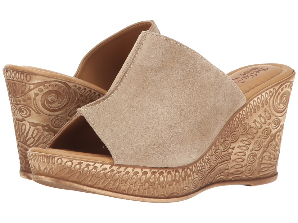 Bella-Vita - Dax-Italy (Taupe Suede Leather) Women's Sandals