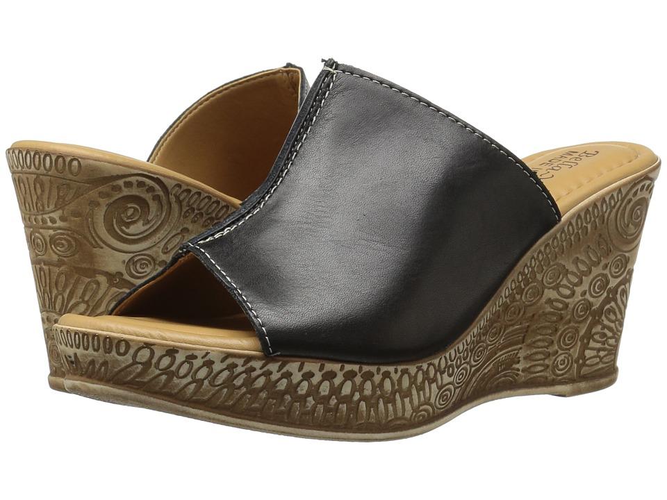 Bella-Vita - Dax-Italy (Black Leather) Women's Sandals