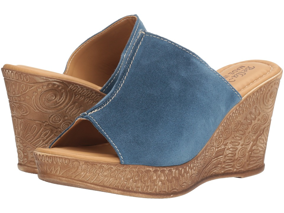 Bella-Vita - Dax-Italy (Blue Suede Leather) Women's Sandals