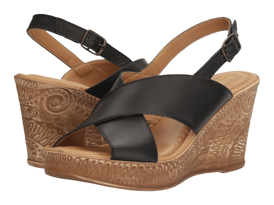 Bella-Vita - Lea-Italy (Black Leather) Women's Sandals