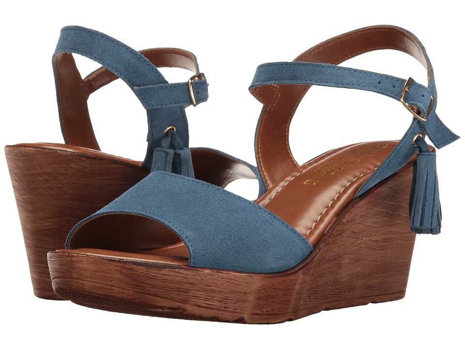 Bella-Vita - Ali-Italy (Blue Suede Leather) Women's Sandals