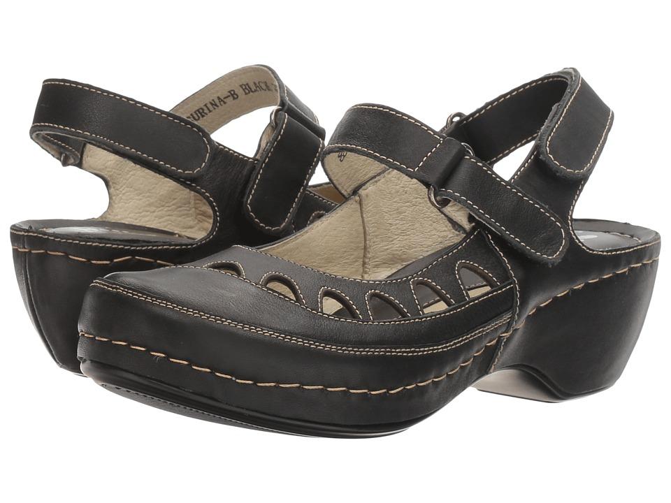 Spring Step - Surina (Black) Women's Shoes