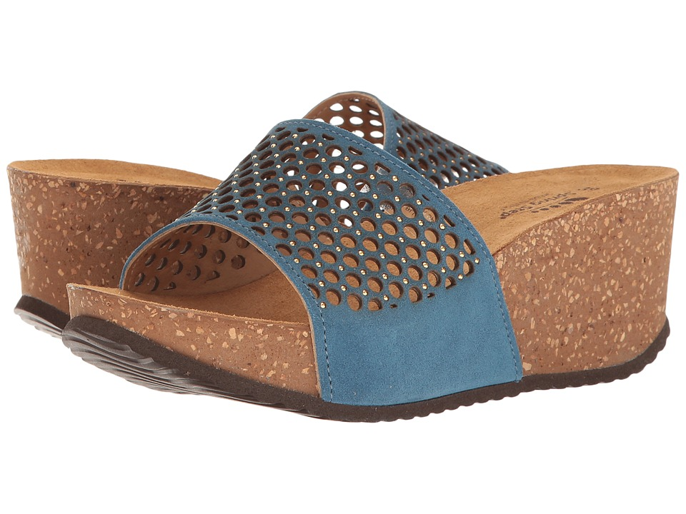 Spring Step - Marni (Blue) Women's Wedge Shoes